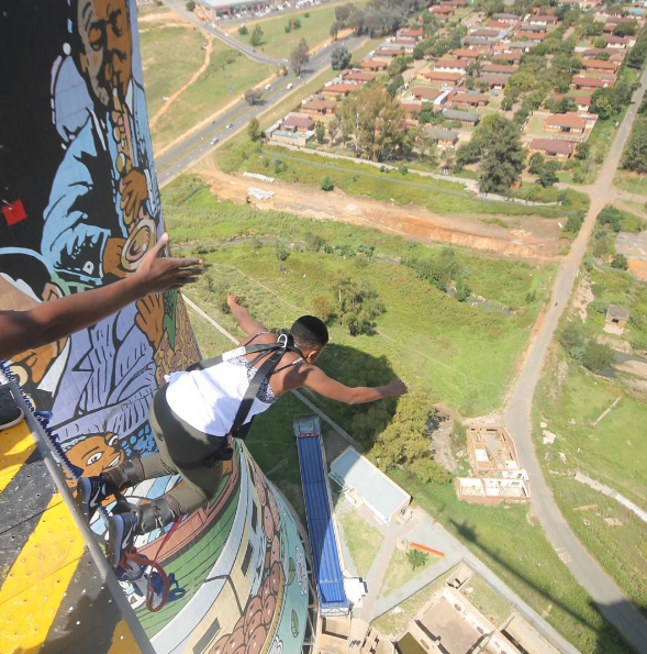 Bungee Jumping From Orlando Towers in Soweto