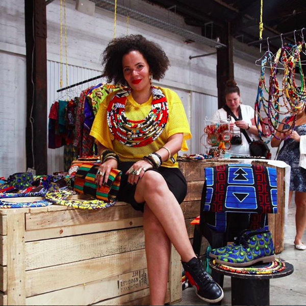 Designer Maria McCloy at her space in Workshop Newtown